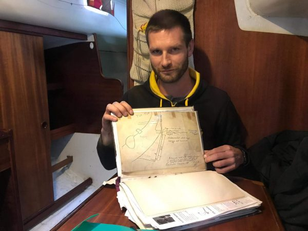 Yours truly having just found the original drawings for the self-steering