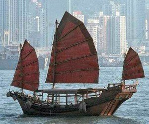 Traditional Chinese junk