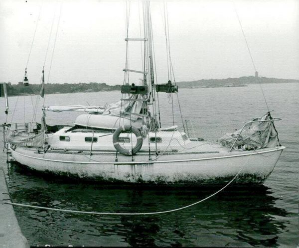 Tua-Tua just having completed her circumnavigation in the 70's